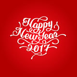 Happy New Year 2017 lettering Stock Images