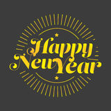 Happy New Year lettering vector. Gold Stock Photography