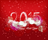 Happy new year with light background. Happy new year background and greeting card design Stock Photography