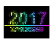 Happy New Year 2017 - light pixel Effect. Happy New Year 2017 - unique light pixel Effect -  Vector Illustration Stock Photos