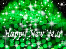 Happy new year light and star Stock Image