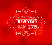 Happy new year light vector background Royalty Free Stock Photography