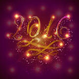 Happy New Year 2016 by light. Vector illustration Royalty Free Stock Image