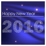 Happy new year 2016 from little snowflakes blue background eps10 Stock Photography