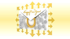 Happy New Year. Logo for a greeting card happy new year 2014 Stock Photo