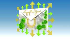 Happy New Year 2014. Logo for a greeting card happy new year 2014 Stock Photos