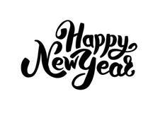 Happy New Year Logo. Vector Logotype invitation, greeting card, decor, celebration. Logo new year banner. Corporate invitation business logotype. 2018 stock illustration