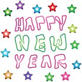 Happy New Year logos Royalty Free Stock Photography