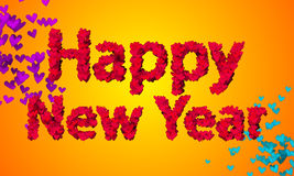 Happy New Year Love Shape Particles 3D Stock Photo