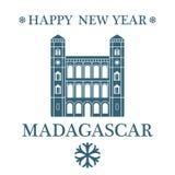 Happy New Year Madagascar. Vector Illustration. illustration EPS Royalty Free Stock Image