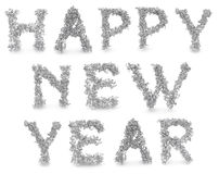 Happy new year made from 3d letters Royalty Free Stock Photo