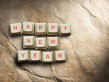 Happy New Year  made of computer keys, background Royalty Free Stock Photography