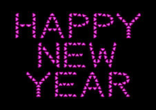 Happy New Year made from pink hearts Royalty Free Stock Image