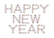 Happy New Year made in rainbow colors. On white background, illustration stock illustration