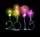 Happy New Year - 2015 made a sparkler Royalty Free Stock Images