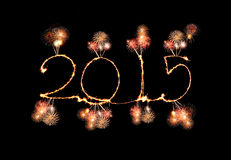 Happy New Year - 2015 made a sparkler Stock Images