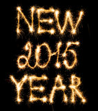 Happy New Year 2015 made of sparkles on black Royalty Free Stock Photo