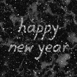 Happy New Year 2016 made of stars. Abstract black and white background. Seamless illustration. Happy New Year 2016 made of stars Royalty Free Stock Images