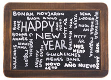 Happy New Year in many languages Royalty Free Stock Photos
