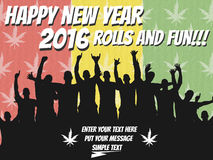2016 happy new year marijuana. And merry christmas royalty free illustration