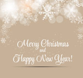 Happy New Year and Marry Christmas Background Stock Photography
