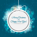 Happy New Year and Marry Christmas Background Stock Images