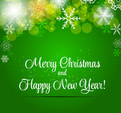 Happy New Year and Marry Christmas Background Royalty Free Stock Image