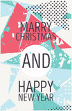 Happy new year and marry christmas card Stock Photos