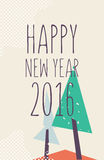 Happy new year and marry christmas poster Stock Image