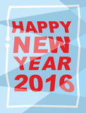 Happy new year 2016. Mauled background, broken letters. Vector i Stock Images