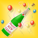 Happy New Year Means Celebrate Joy And Partying Stock Images
