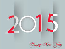 Happy New Year 2015. Mechanical flip clock design in the process of the flip Royalty Free Stock Images