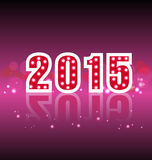 Happy New Year 2015. Mechanical flip clock design in the process of the flip Stock Images
