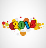 Happy New Year 2015. Mechanical flip clock design in the process of the flip Royalty Free Stock Image