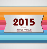 Happy New Year 2015. Mechanical flip clock design in the process of the flip Royalty Free Stock Photo