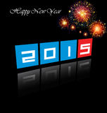 Happy New Year 2015. Mechanical flip clock design in the process of the flip Royalty Free Stock Photography