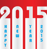 Happy New Year 2015. Mechanical flip clock design in the process of the flip Stock Image