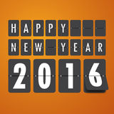 2016 Happy New Year mechanical timetable background. Stock Image