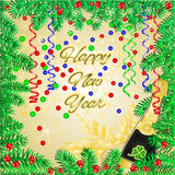 Happy New Year merry background vector Stock Images