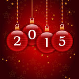Happy new year 2015. Merry christmas and a happy new year 2015 vector illustration