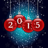 Happy new year 2015. Merry christmas and a happy new year 2015 royalty free illustration