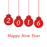 Happy New Year 2016. Happy New Year and Merry Christmas 2016 Stock Photography
