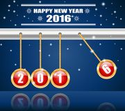 Happy New Year 2016. 2016 Merry Christmas and Happy New Year royalty free illustration