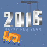 Happy new year 2016. Merry christmas and happy new year 2016 Royalty Free Stock Image