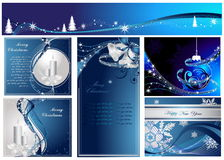 Happy New Year and Merry Christmas background Royalty Free Stock Images