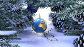 Happy New Year and Merry Christmas background Stock Photography