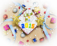 Happy new year and merry christmas background. Royalty Free Stock Photo