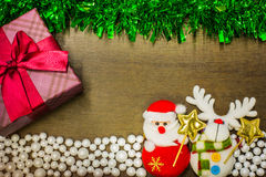 Happy new year and merry christmas background. Stock Image
