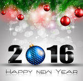2016 Happy New Year and Merry Christmas Background. For Seasonal Greetings Cards, Parties Flyer Stock Illustration