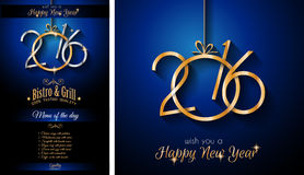 2016 Happy New Year and Merry Christmas Background. For Seasonal Greetings Cards, Parties Flyer Royalty Free Stock Images